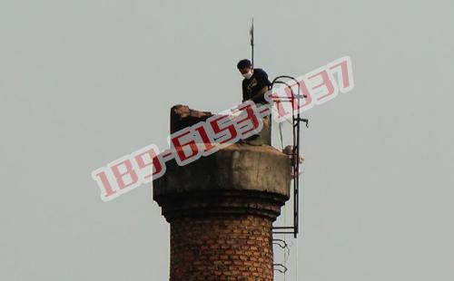 江苏35米砖烟囱拆除_砖烟囱定向拆除